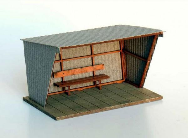 Wartehalle aus Wellblech - Bausatz
