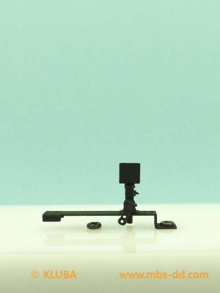 Weichenstellvorrichtung mit Winkelblech, Rechtsweiche, rechts stehend