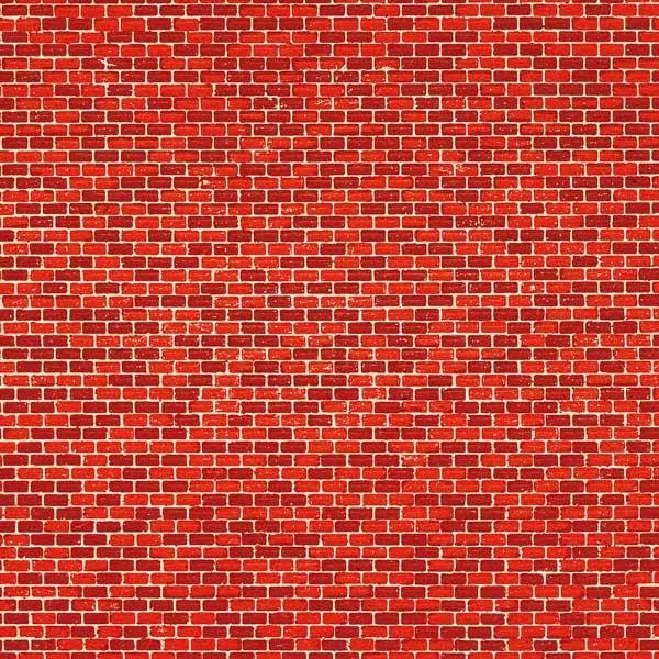 Ziegelmauer, rot (Dekorpappe) 22 x 10 cm