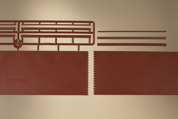 Ziegelmauern mit Zahnfriesvarianten (TT)