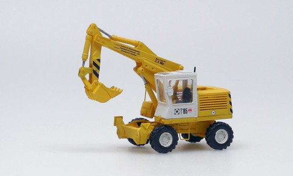 Bagger T185, gelb/weiß Tieflöffel