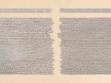 2 Steinmauern mit Abschlußstein