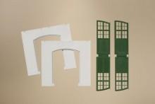 4 Wände 2326A Putz, + Tore, grün