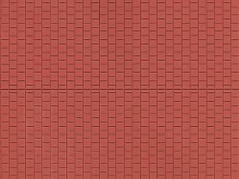 Fußsteig, rotbraun, 10 x 20 cm