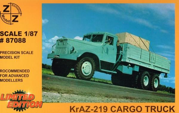 Kraz-219 Holzpritsche, Hochbord - Bausatz
