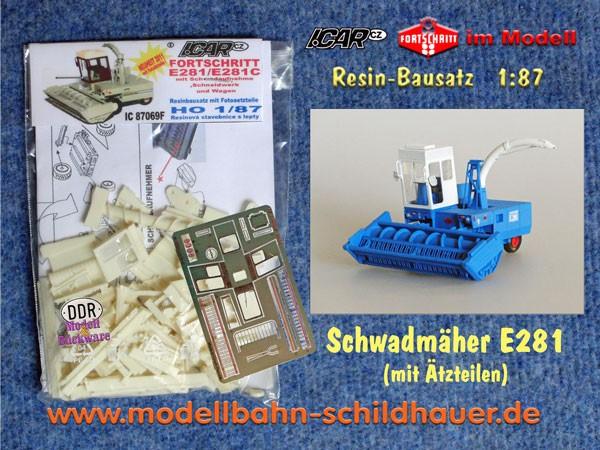 E 281 mit Schneidwerk+Mähwerk+Wagen, Bausatz