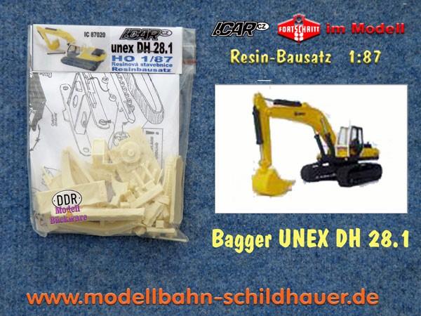 UNEX DH28.1 Raupenbagger, Bausatz