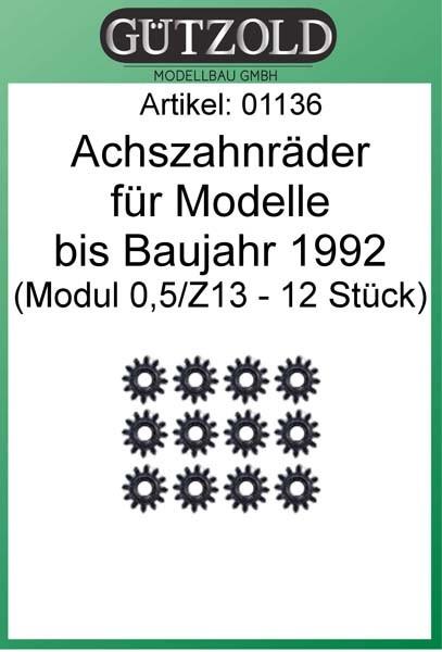 Achszahnräder für Modelle bis 1992