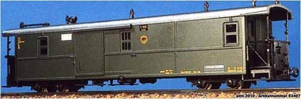 Einh-Packwagen grau (Zittau) DRG