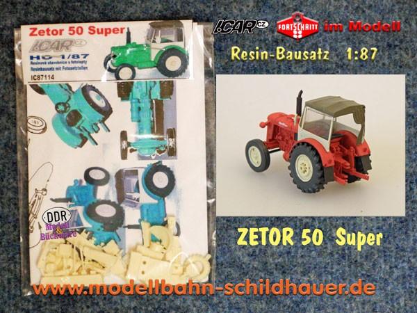 zetor 50 super bausatz baus tze icar besonderes. Black Bedroom Furniture Sets. Home Design Ideas