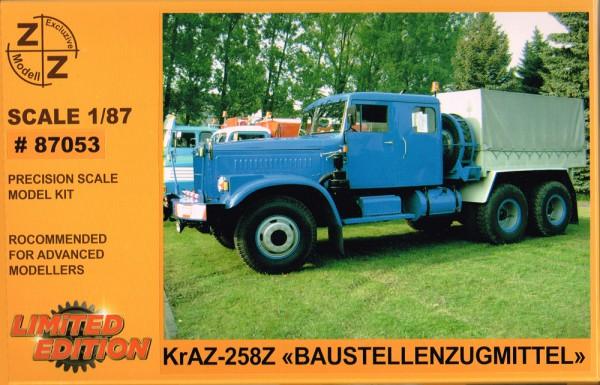 Kraz-258Z Zugmaschine mit Doppelkabine - Bausatz