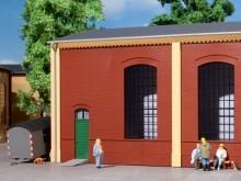4 Wände 2325B rot, Industriefenster