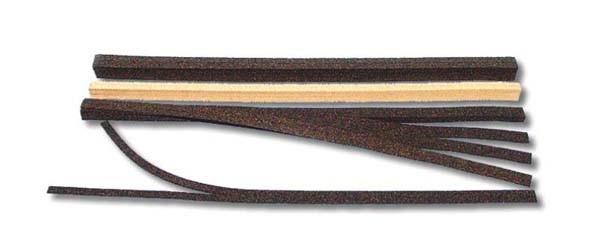 Korkgleisbettung,flexibel H0 schwarz
