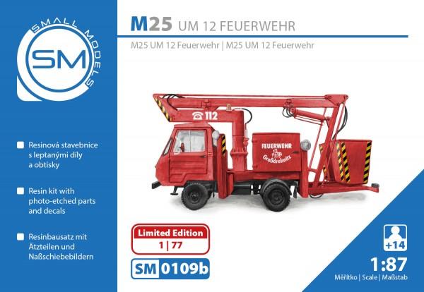 Multicar M25 UM12 Montagemast Feuerwehr, Bausatz (limitierte Serie)