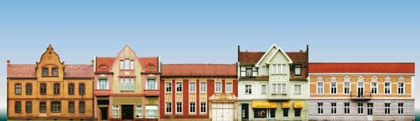 5Kleinstadtfassaden H0/TT