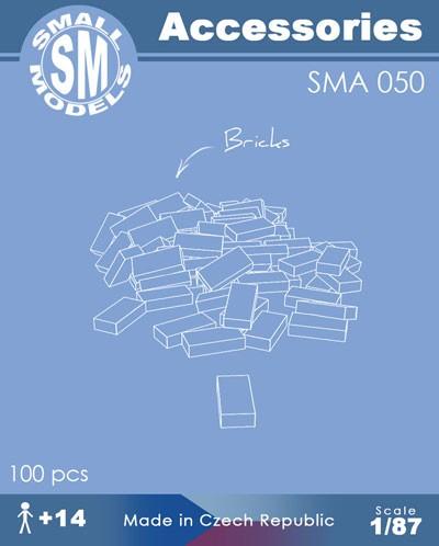 Ziegel (100 Stück) , Bausatz aus Resin
