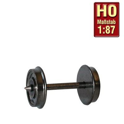 H0-Radsatz 11,4mm einseitig isoliert