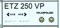 Decals für MZ ETZ 250 VP