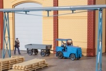 """Kleinschlepper """"Pomßen"""" mit Anhänger - Bausatz"""