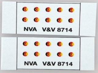 "Decal ""NVA"" 10 Stück 1:87"