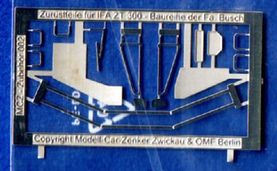 Aetzteile (Spiegel etc.) f.ZT300/303 H0