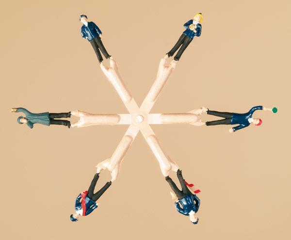 6 Figuren Bahnpersonal