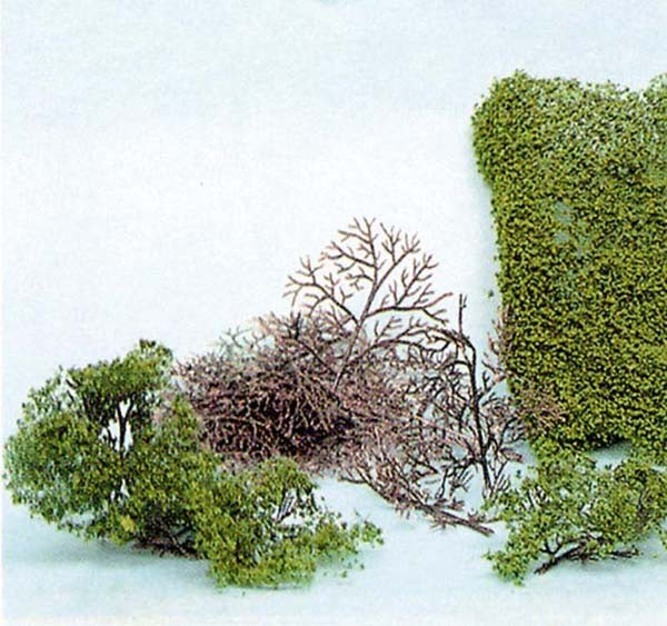 Büsche, Bausatz mit Heki-Flor (Laub-Foliage)