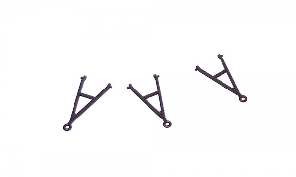 Anhängerzuggabeln (3 Stück) schwarz