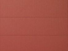 Wellblechplatte rotbraun, 10 x 20 cm