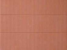 Trapezblechplatte rotbraun, 10 x 20 cm