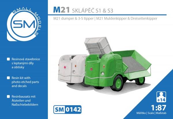 Multicar M21 Dumper & Kipper , Bausatz für 2 Fahrzeuge