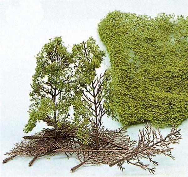 Bäume, Bausatz mit Heki-Flor (Laub-Foliage)