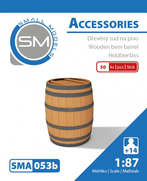 Holz-Bierfässer 50L (50 Stück) , Bausatz aus Resin