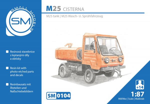 Multicar M25 Wasch+Sprühfahrzeug , Bausatz