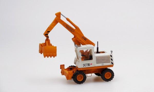 Bagger T185 orange/weiß mit Greifer