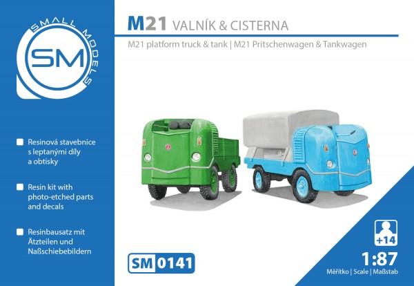 Multicar M21 Pritsche / Waschanlage, Bausatz für 2 Fahrzeuge